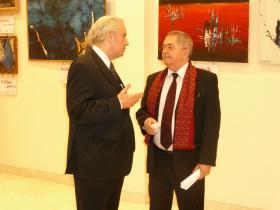 Amos Schueller and Ambassador Vasile Sofineti (Romania)
