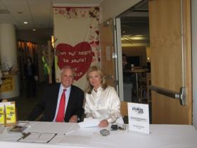 Amos Schueller and artistic director Perla Karney