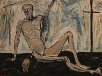 Man and Skull (1952) | Oil on Canvas | 50 x 73 cm