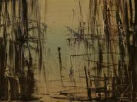 Alone X. (1992) | Oil on Canvas | 65 x 50 cm