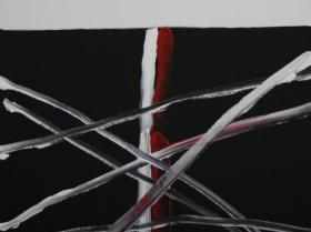 Criss-Cross II. (2008) | Acryl on Canvas | 80 x 60 cm