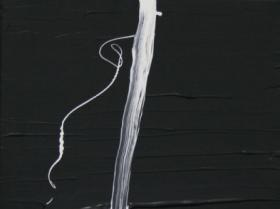 White Lines on Black II. (2008) | Acryl on Canvas | 60 x 40 cm