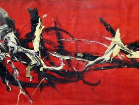 Without Title (1954)   Oil on Canvas   100 x 50 cm