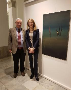Amos Schueller and Director of the Austrian cultural Embassy in Istanbul Romana Königsbrun
