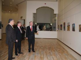 Dr. Kadhem E. Rajab, Austrian Ambassador Ulrich Frank, Amos Schueller