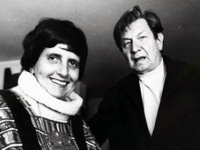 Soshana and Mathias Goeritz  Mexico 1981