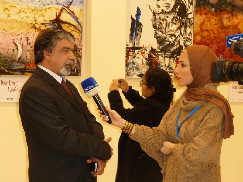 Eng. Hussein M. Al-Jazi with Journalist