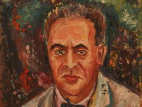 Bruno Walter - Conductor and Composer (1945) | Oil on Canvas | 74 x 59 cm