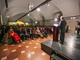 President Heinz Fischer holding a speech