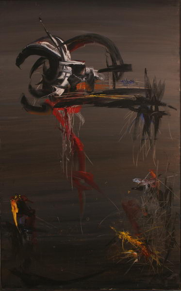 In the Fog I. (1964)   Oil on Canvas   130 x 81 cm