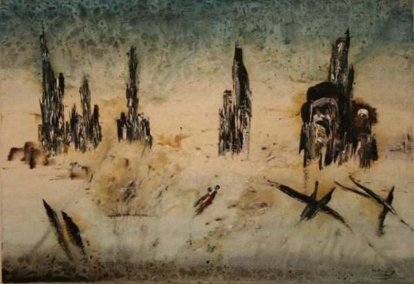 Sarajevo - Two Dead People (1993) | Oil on Canvas | 90 x 130 cm