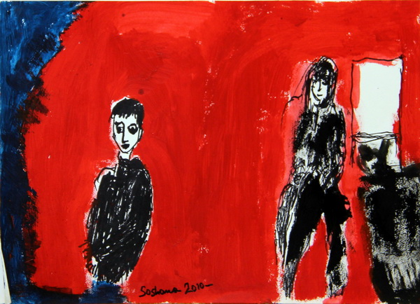 Without Title (2010) | Acryl on Paper | 35 x 25cm