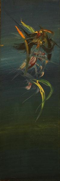 Bird in Blue (1970) | Oil on Canvas | 120 x 40 cm
