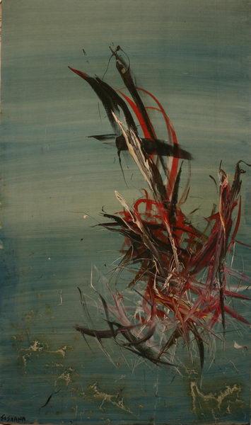 Sealife VIII. (1966) | Oil on Canvas | 162 x 96 cm