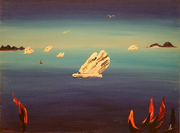 Flying Iceberg (1981) | Oil on Canvas | 75 x 101 cm