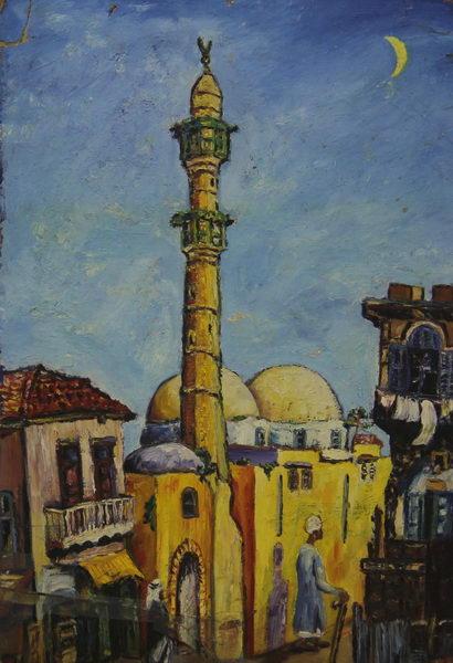 Old Jaffa II. (1950)   Oil on Carton   41 x 61 cm