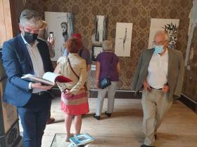 Jon Domenic Parolini in the Centro Giacometti, swiss cultural minister