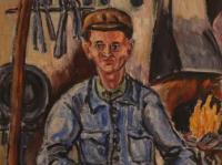American Worker II. (1945) | Oil on Canvas | 96 x 56 cm