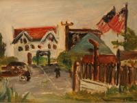 Cop (1944) | Oil on Cardboard | 25 x 38 cm