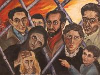 Artists in Paris (1955)   Oil on Canvas   73 x 100 cm