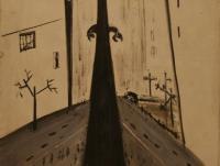 Cityscape (1953)   Oil on Canvas   65 x 46 cm