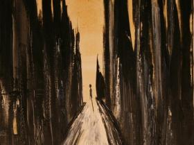 Alone XII. (1996) | Oil on Canvas | 75 x 60 cm