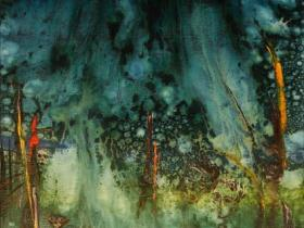 In the Rainforest (1990) | Oil on Canvas | 100 x 70 cm