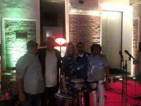 Iris Camaa and friends and Amos Schueller