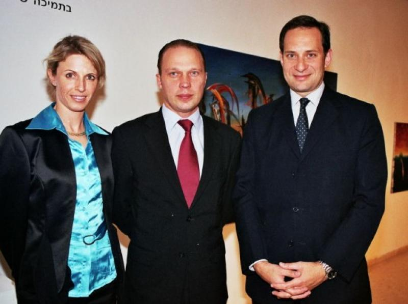 Oksana & Einars Mikelson - Mag. Michael Rendi Austrian Amb. to Israel