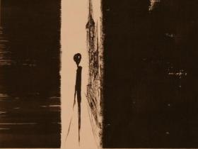 Alone in N.Y. IV. (1985) | Ink on Paper | 36 x 26 cm