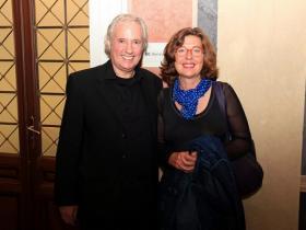 Amos Schueller and Prof. Marion von Osten
