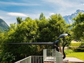 Giacomettis personal garden in Stampa (his birthhouse)