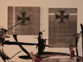 Es kann nur Einer siegen (1987) | Mixed Technique | 45 x 63 cm