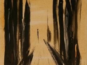 Alone IV. (1994) | Acryl on Canvas | 75 x 50 cm